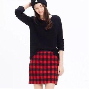 Madewell | Buffalo Plaid Check Mini Skirt